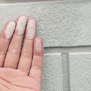 外壁チェックポイント|塗装の白亜化